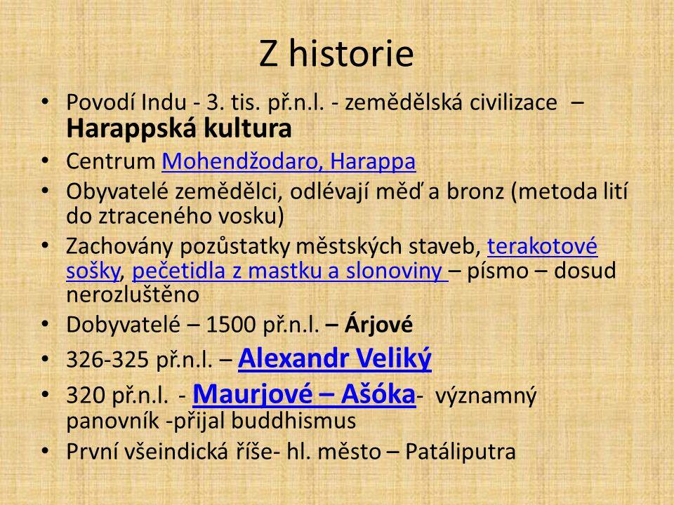 Z historie Povodí Indu - 3. tis. př.n.l.