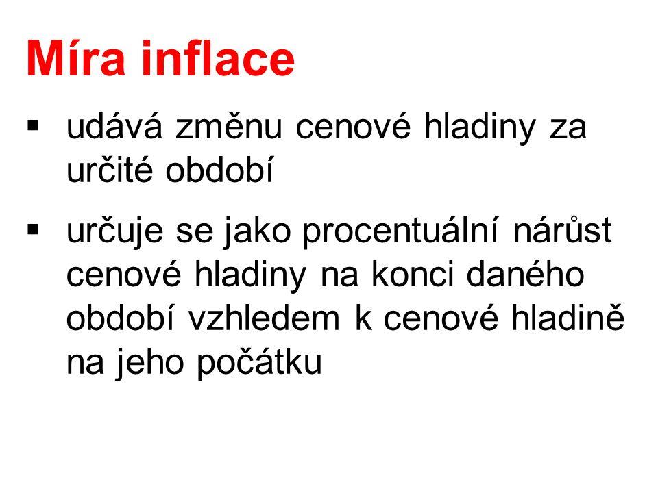 Cenové indexy  slouží ke zjištění cenové hladiny  pro určení dopadu inflace na spotřebitele se používá tzv.