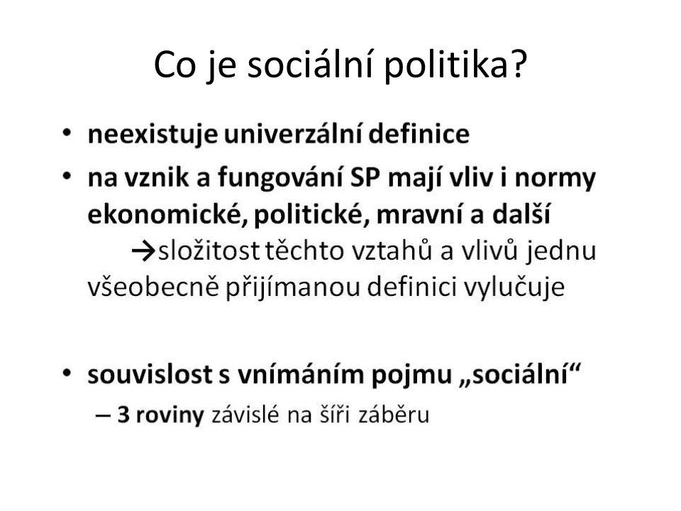 Co je sociální politika?
