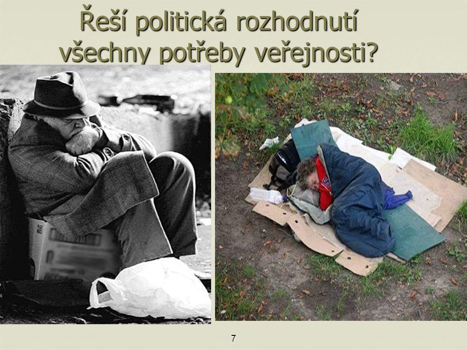 Řeší politická rozhodnutí všechny potřeby veřejnosti 7