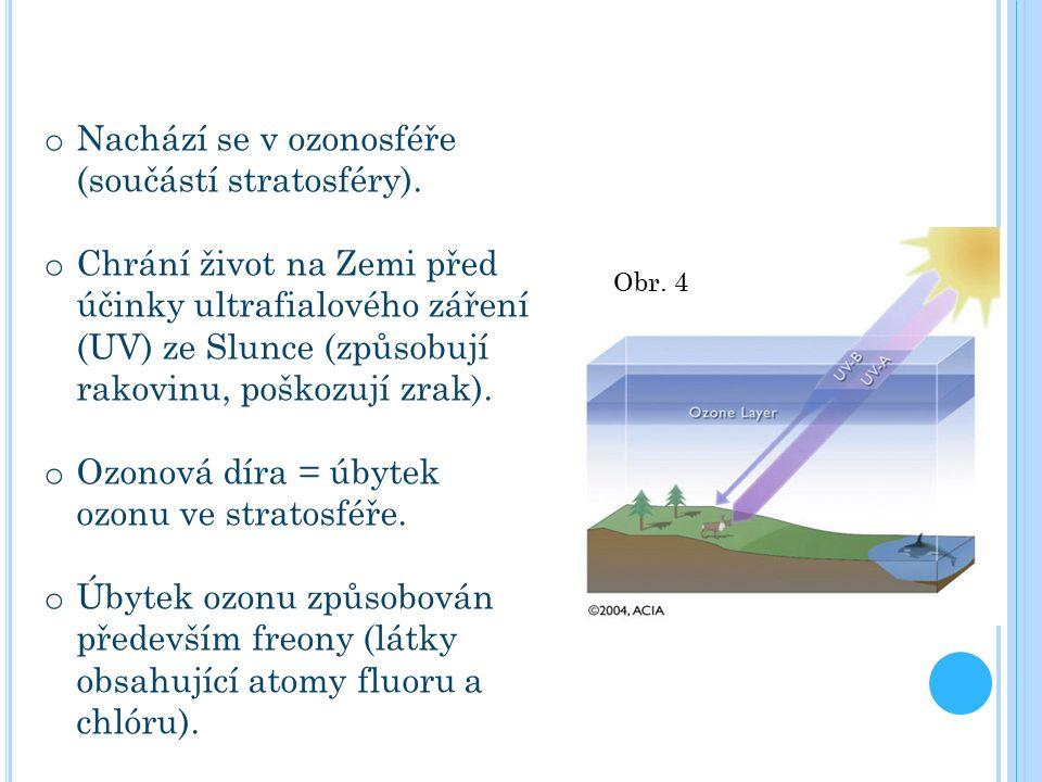 o Nachází se v ozonosféře (součástí stratosféry).