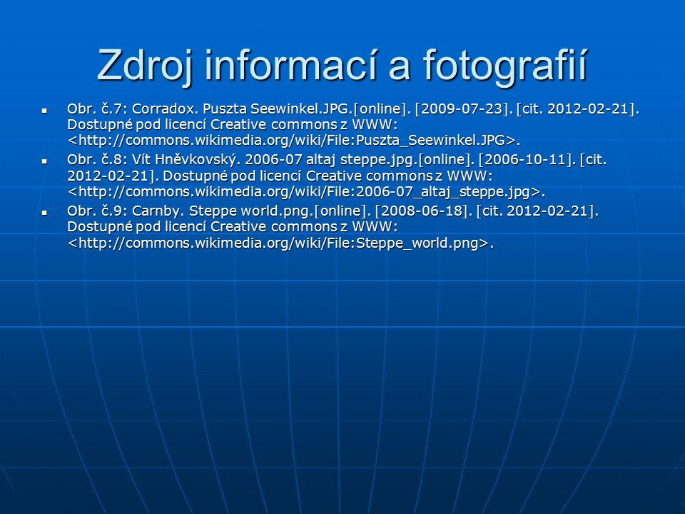 Zdroj informací a fotografií Obr. č.7: Corradox. Puszta Seewinkel.JPG.[online]. [2009-07-23]. [cit. 2012-02-21]. Dostupné pod licencí Creative commons