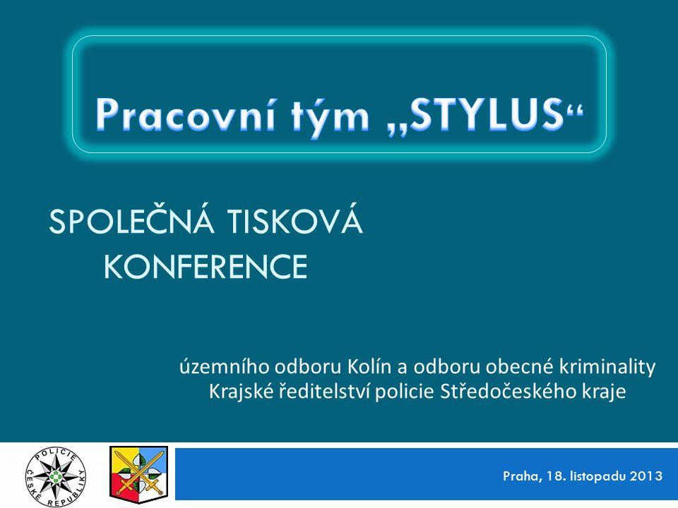 18.listopadu 2013 12 Společná tisková konference ÚO Kolín a OOK KŘPS Děkujeme za pozornost.