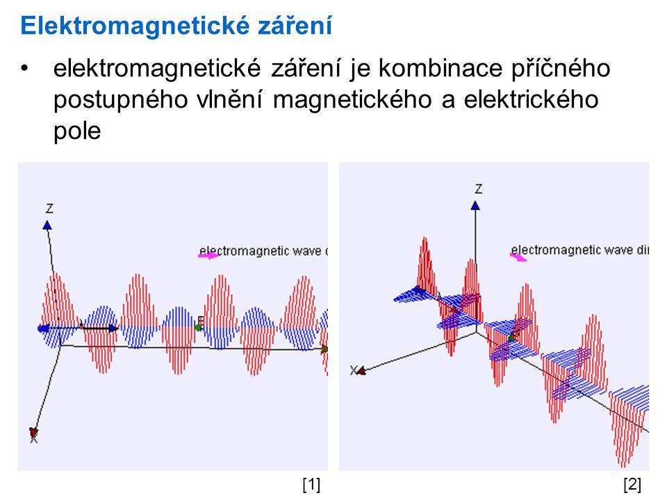 Elektromagnetické záření elektromagnetické záření je kombinace příčného postupného vlnění magnetického a elektrického pole [1][2]