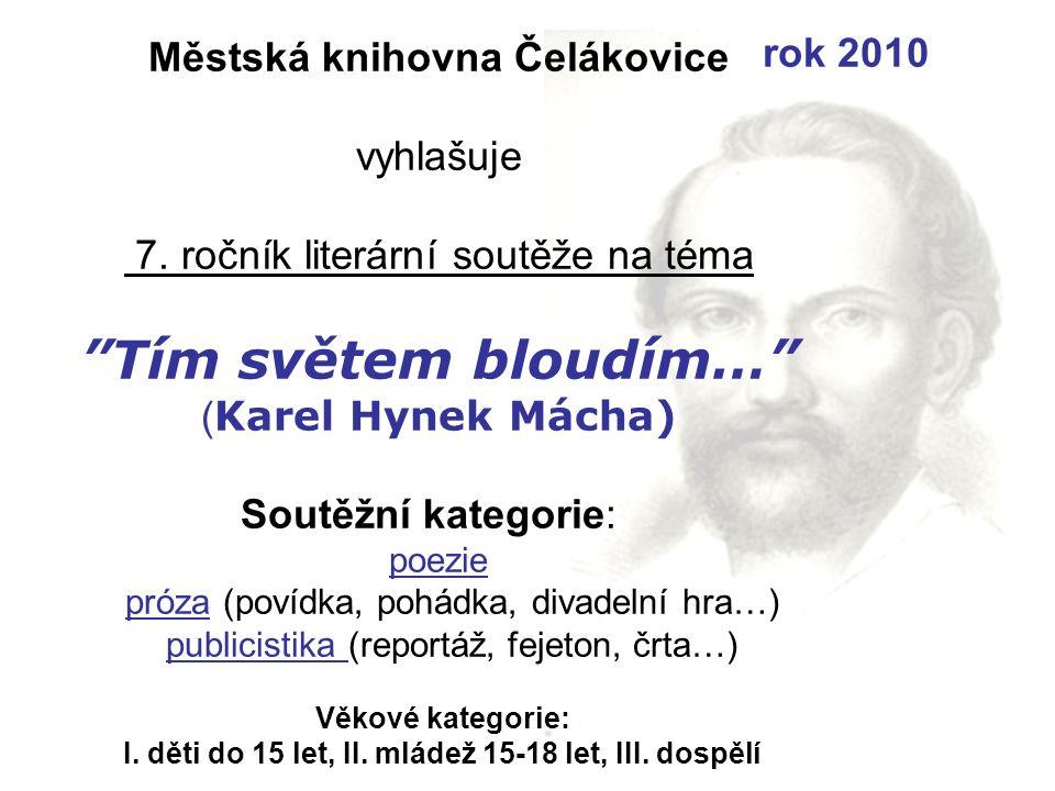 Městská knihovna Čelákovice vyhlašuje 7.