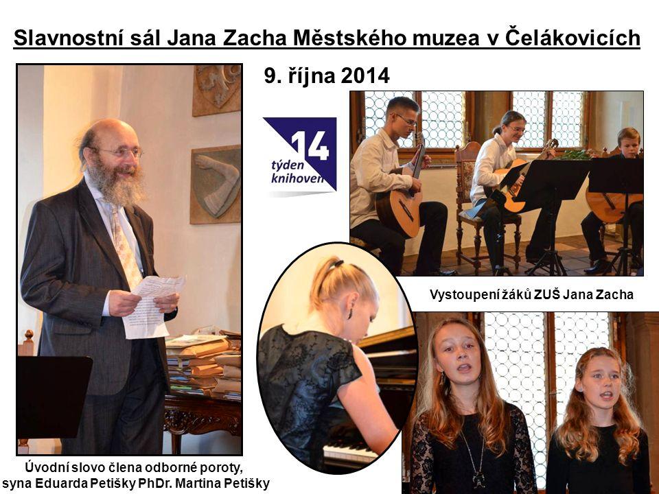 Slavnostní sál Jana Zacha Městského muzea v Čelákovicích 9.