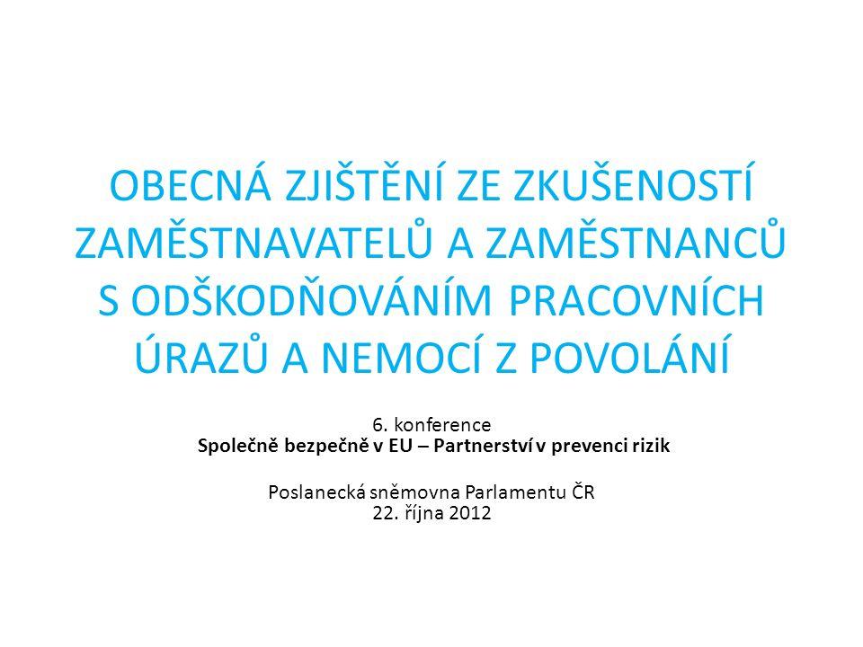 ODŠKODŇOVÁNÍ PÚ A NZP * 11 Důsledné vyžadování kvalitního školení BOZP všech zaměstnanců (nejen kmenových, ale i agenturních, brigádníků a cizinců).