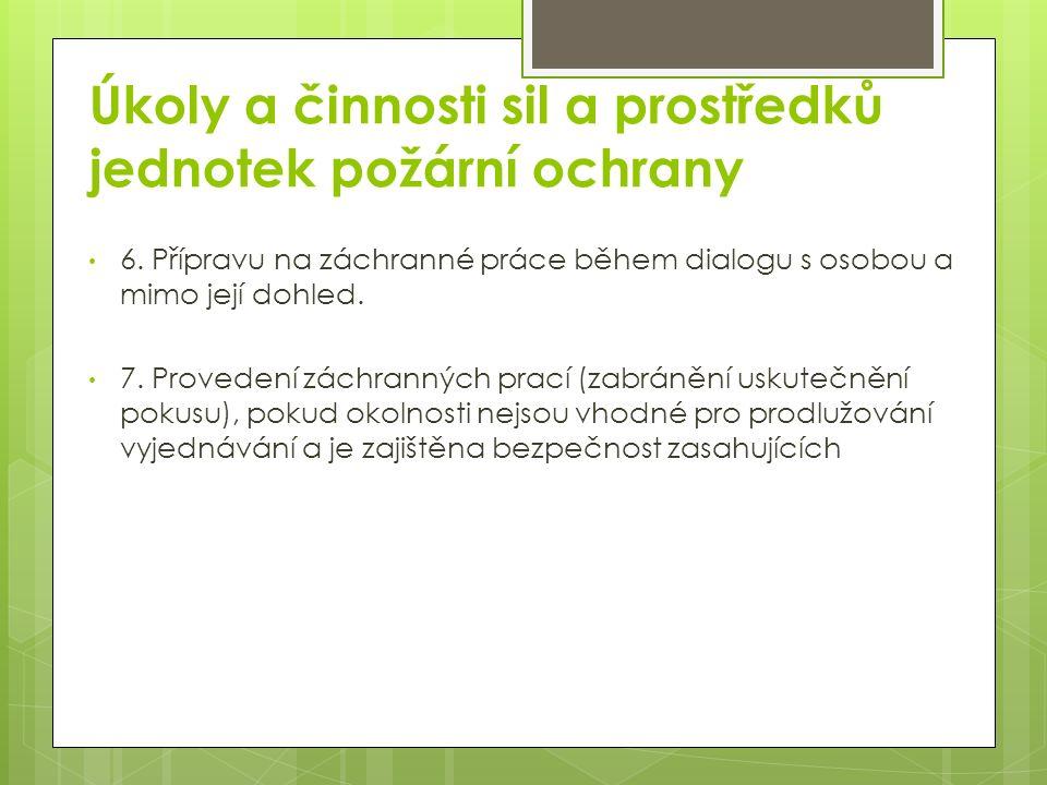 Úkoly a činnosti sil a prostředků jednotek požární ochrany 6.