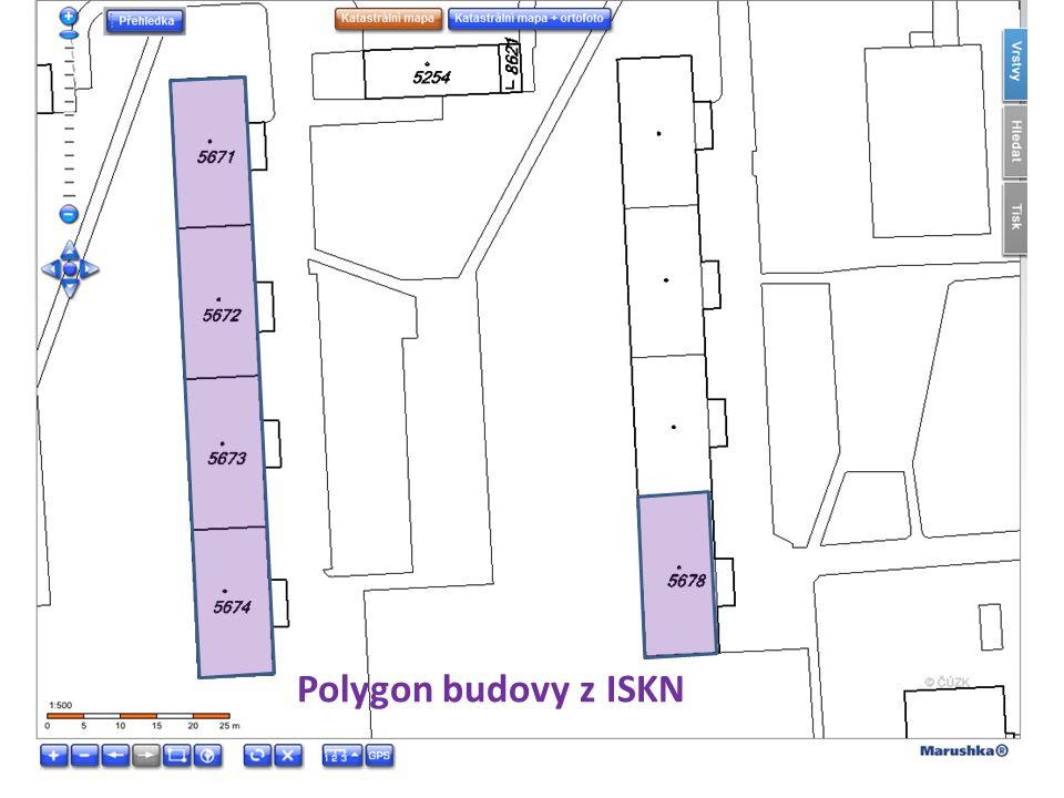 Polygon budovy z ISKN