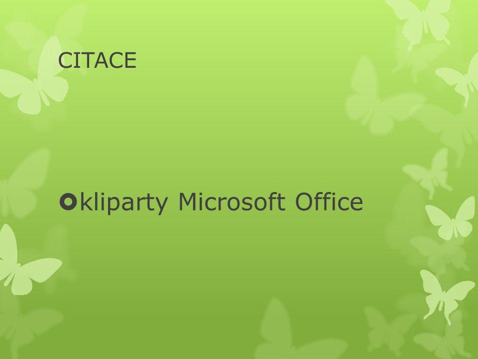 CITACE  kliparty Microsoft Office