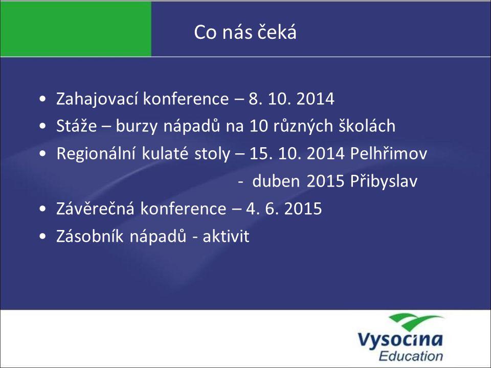 Co nás čeká Zahajovací konference – 8. 10.