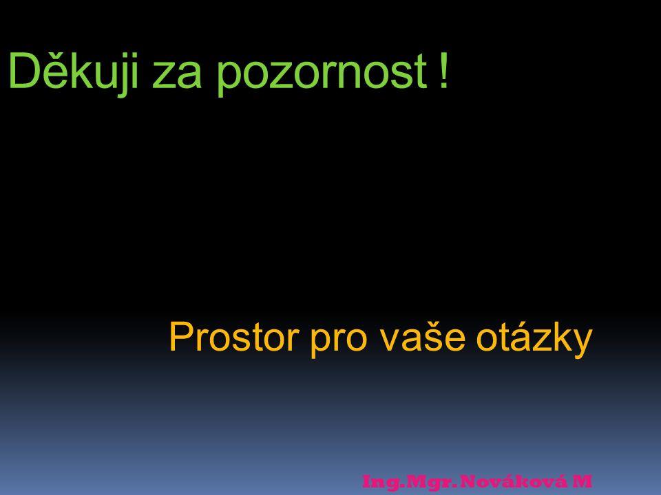 Prostor pro vaše otázky Ing.Mgr. Nováková M Děkuji za pozornost !