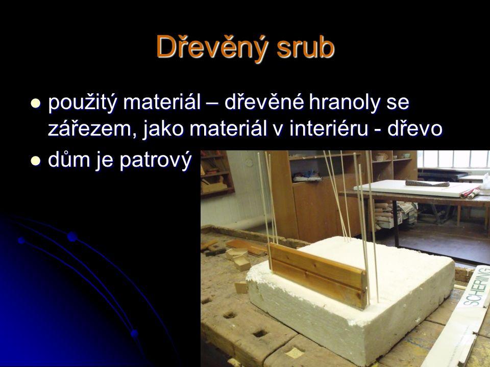 Dřevěný srub použitý materiál – dřevěné hranoly se zářezem, jako materiál v interiéru - dřevo použitý materiál – dřevěné hranoly se zářezem, jako mate