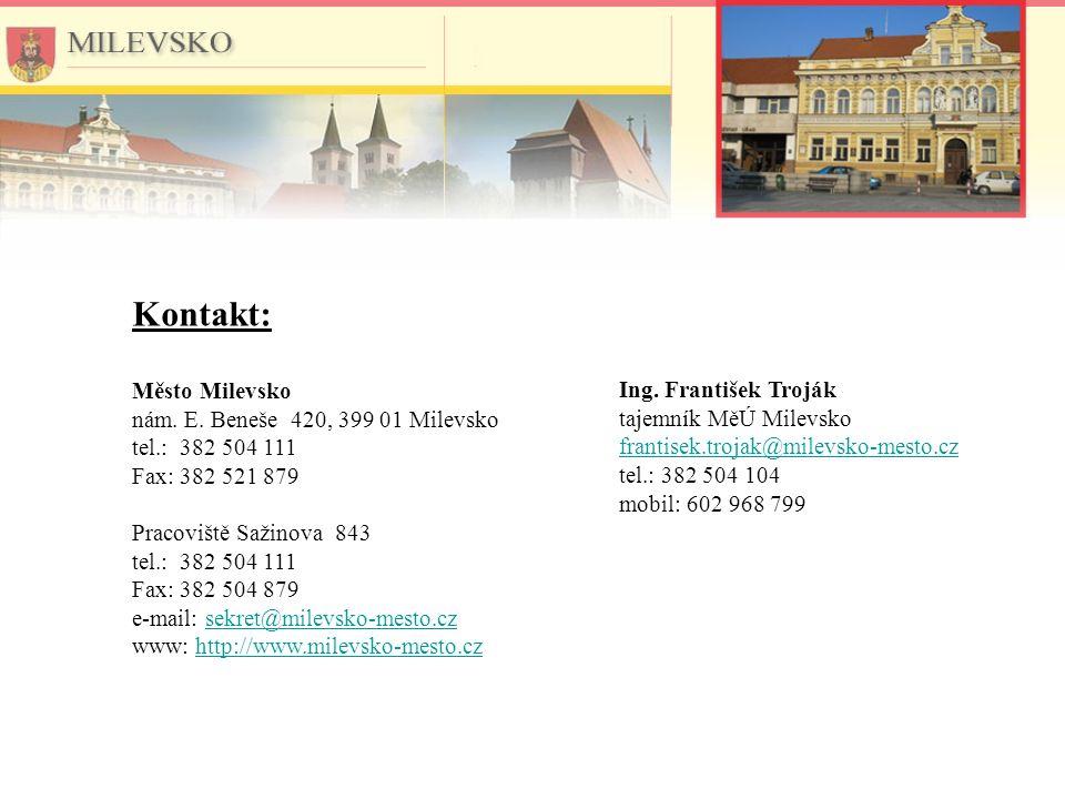 Kontakt: Město Milevsko nám. E.