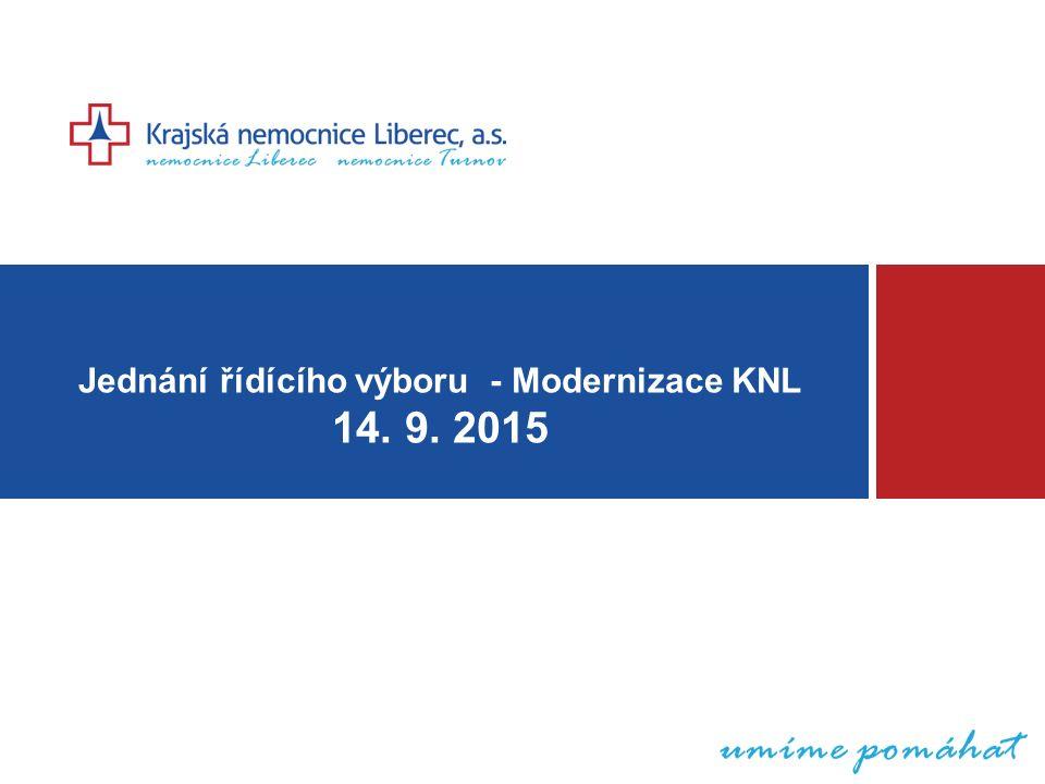 Jednání řídícího výboru - Modernizace KNL 14. 9. 2015