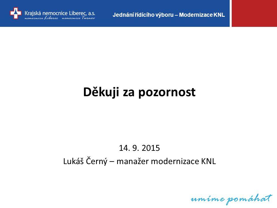 Jednání řídícího výboru – Modernizace KNL Děkuji za pozornost 14.