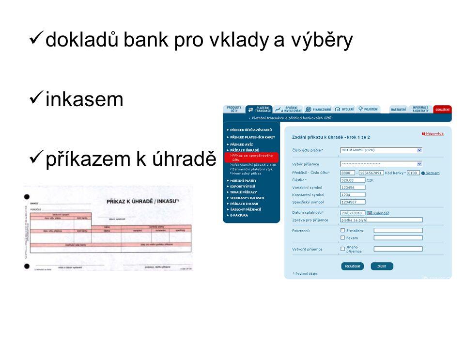 platební kartou popř. bezkontaktní placení Elektronická peněženka PayPal QR kódu šekem