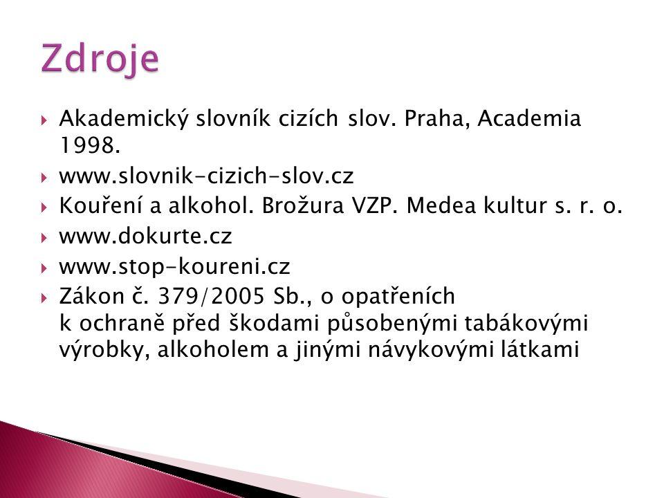  Akademický slovník cizích slov. Praha, Academia 1998.