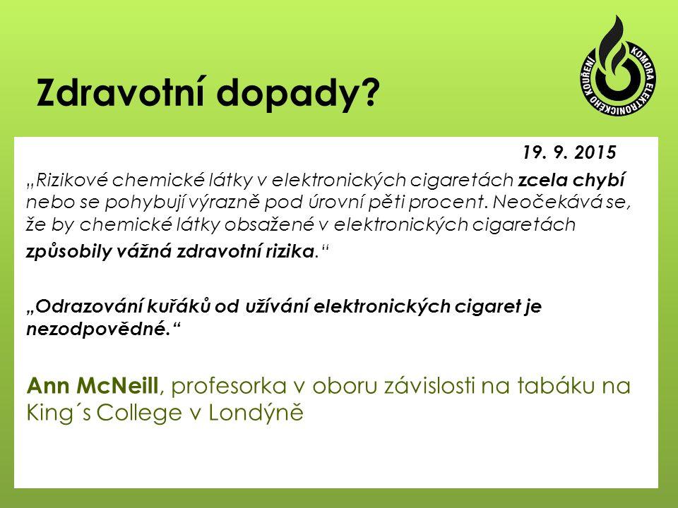 """Současná regulace  E-Liquidy:  """"chemický zákon - zákon č."""