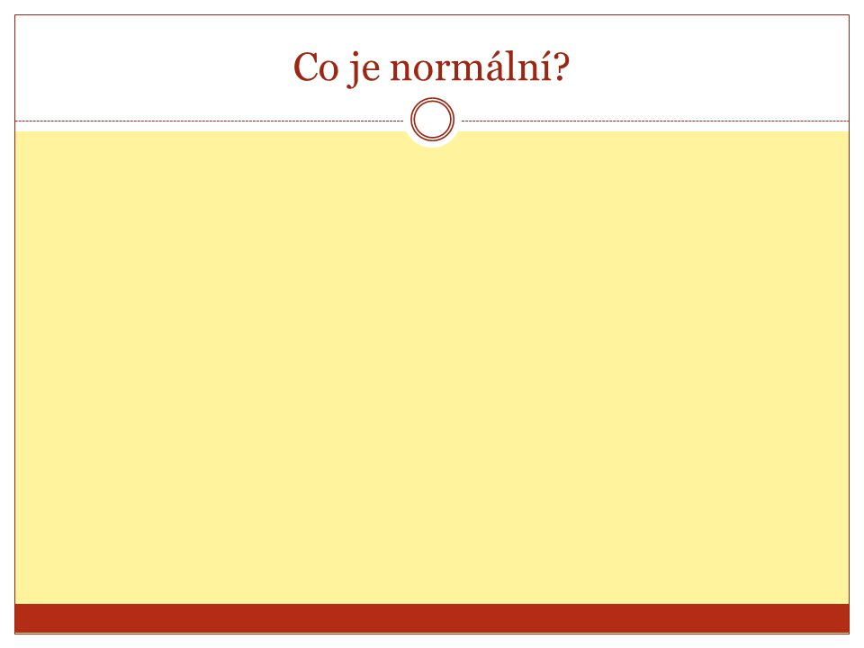 Co je normální