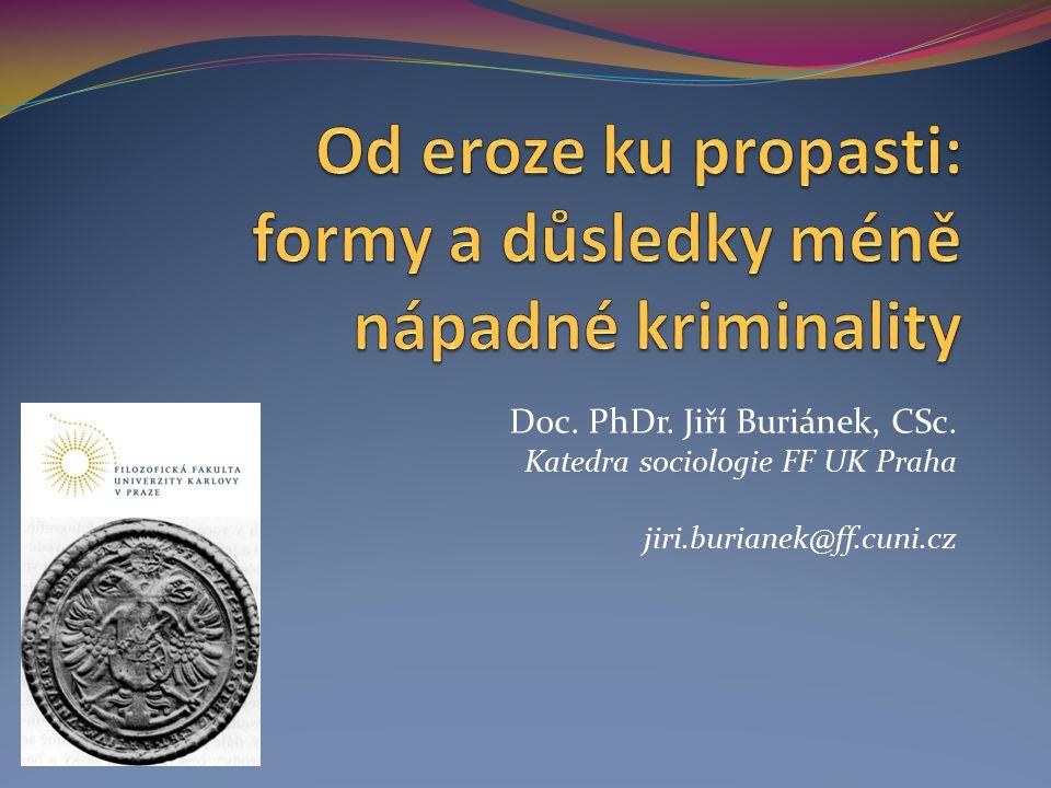 Doc. PhDr. Jiří Buriánek, CSc. Katedra sociologie FF UK Praha jiri.burianek@ff.cuni.cz