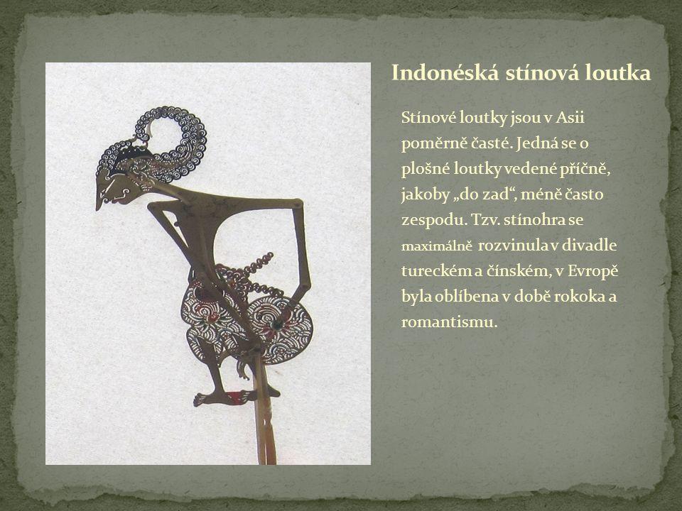 Stínové loutky jsou v Asii poměrně časté.