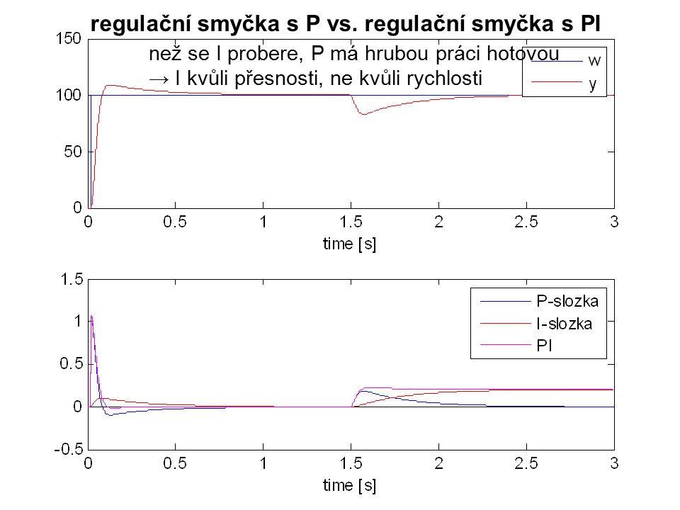 regulační smyčka s P vs.