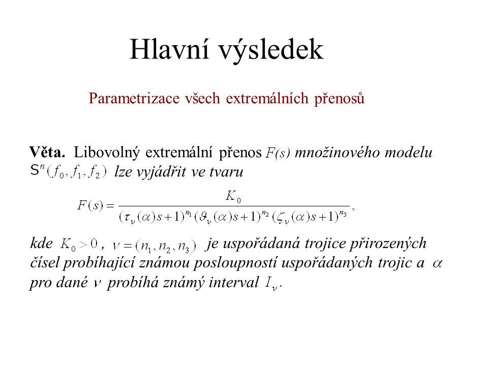 Hlavní výsledek Věta. Libovolný extremální přenos množinového modelu lze vyjádřit ve tvaru kde, je uspořádaná trojice přirozených čísel probíhající zn