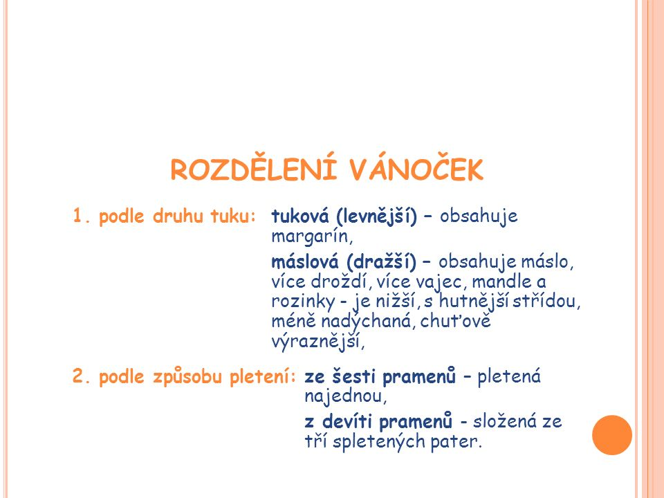 ROZDĚLENÍ VÁNOČEK 1.