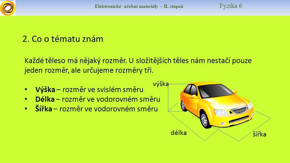 Elektronické učební materiály – II. stupeň Fyzika 6 2.