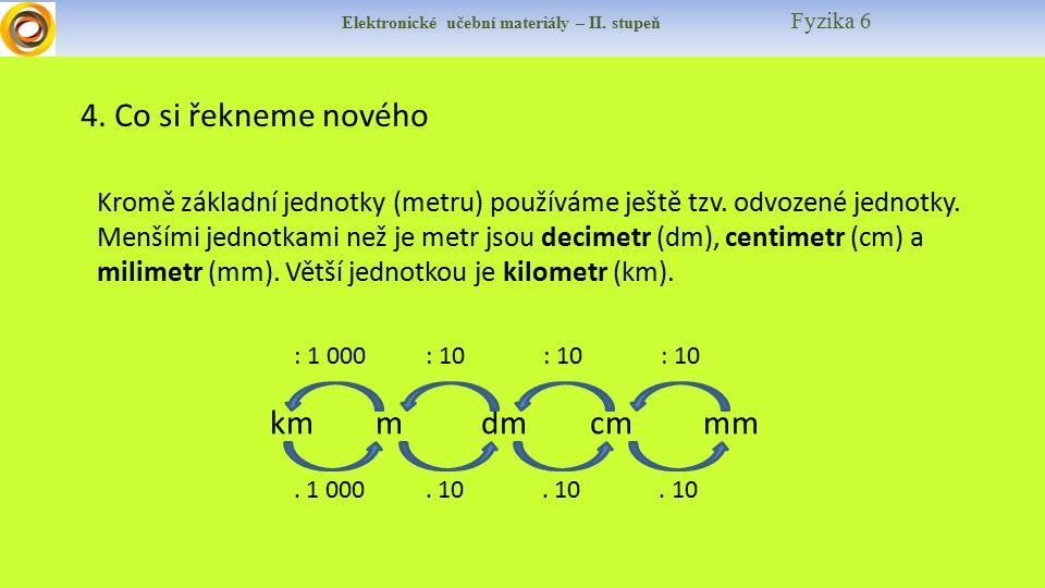 Elektronické učební materiály – II.stupeň Fyzika 6 4.