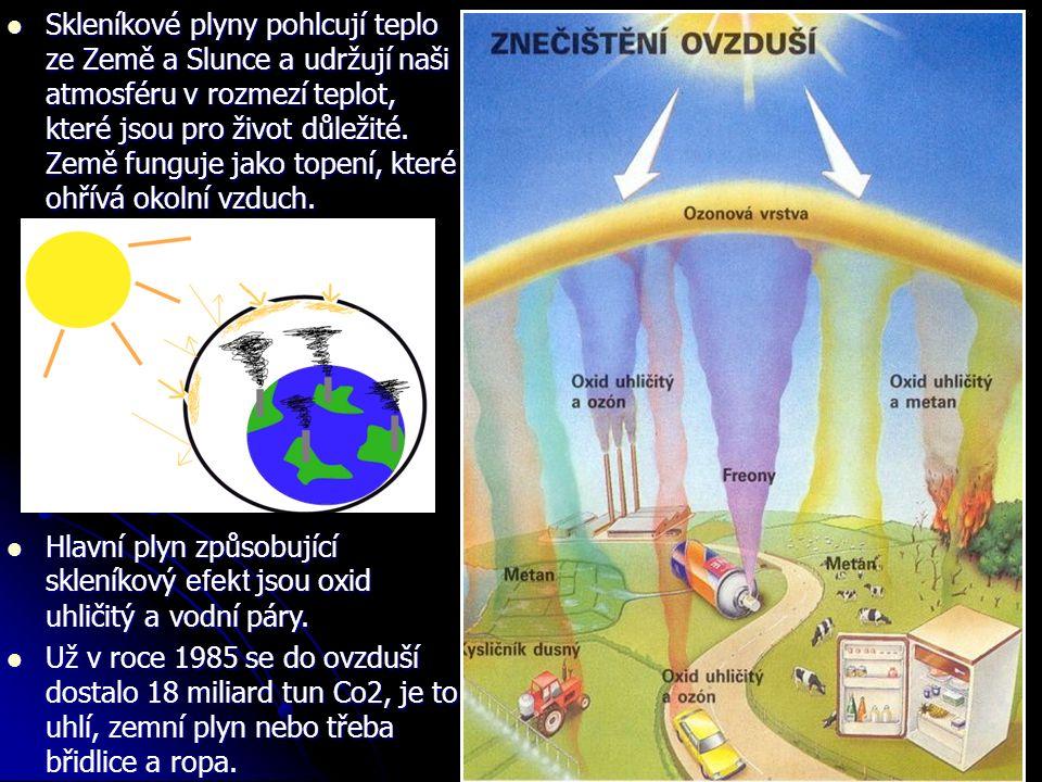 Skleníkové plyny pohlcují teplo ze Země a Slunce a udržují naši atmosféru v rozmezí teplot, které jsou pro život důležité.