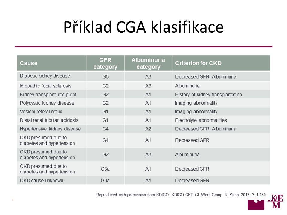 Příklad CGA klasifikace