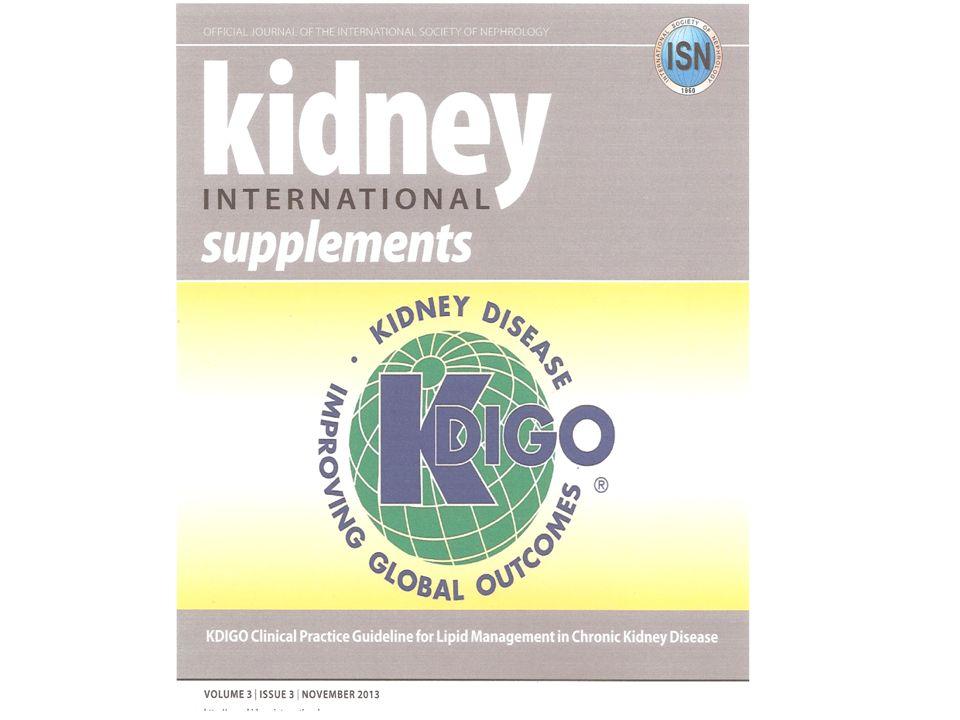Kidney Disease: Improving Global Outcomes (KDIGO) Lipid Work Group.
