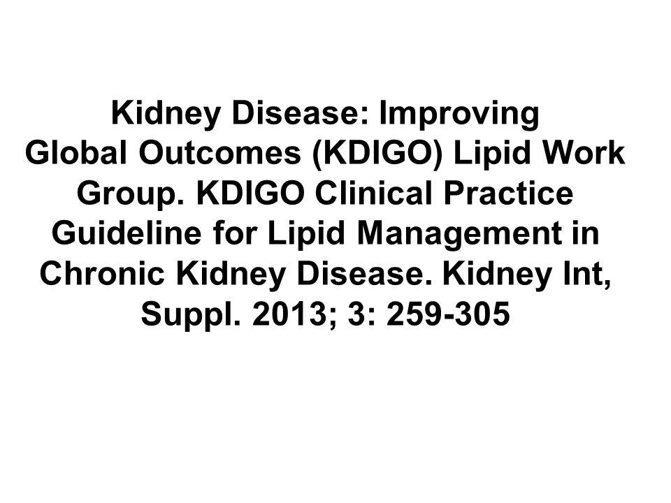 Léčba ke snížení triglyceridů u dospělých 5.1: U dospělých s CKD (včetně léčených chronickou dialýzou nebo transplantací ledviny) a hypertriglyceridemií navrhujeme nefarmakologická opatření (2D)
