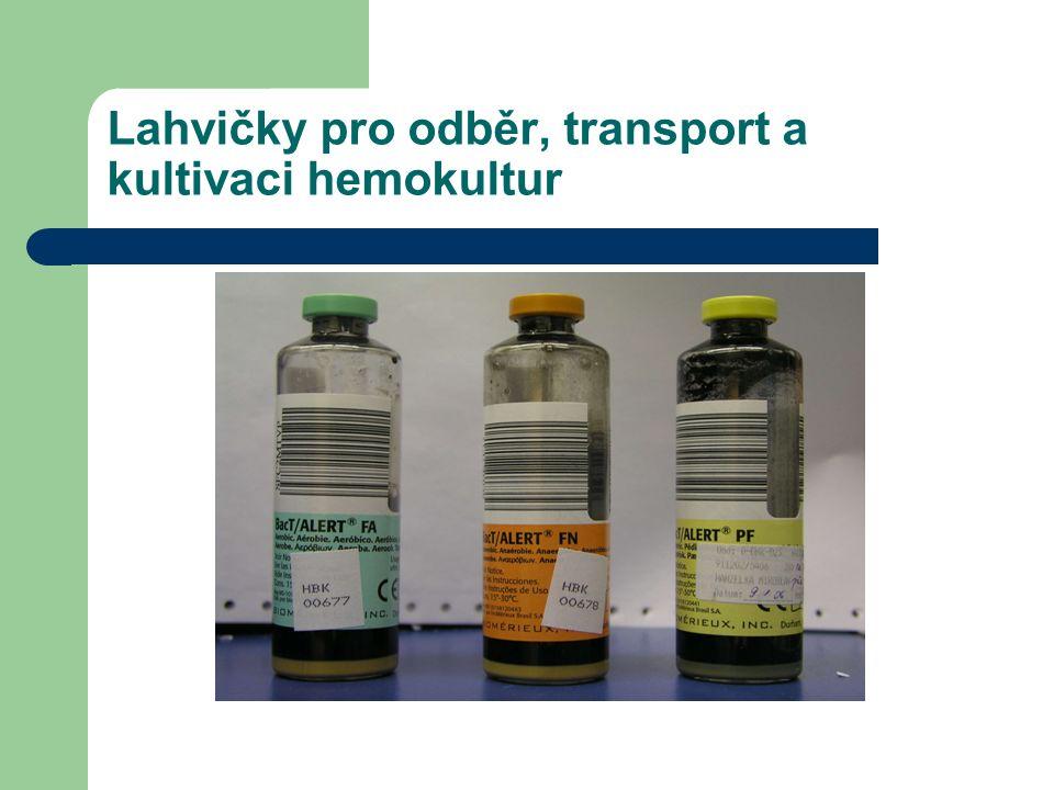 Lahvičky pro odběr, transport a kultivaci hemokultur