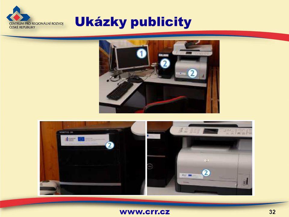 www.crr.cz 32 Ukázky publicity