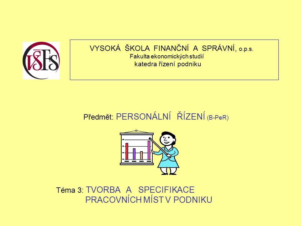 VYSOKÁ ŠKOLA FINANČNÍ A SPRÁVNÍ, o.p.s.