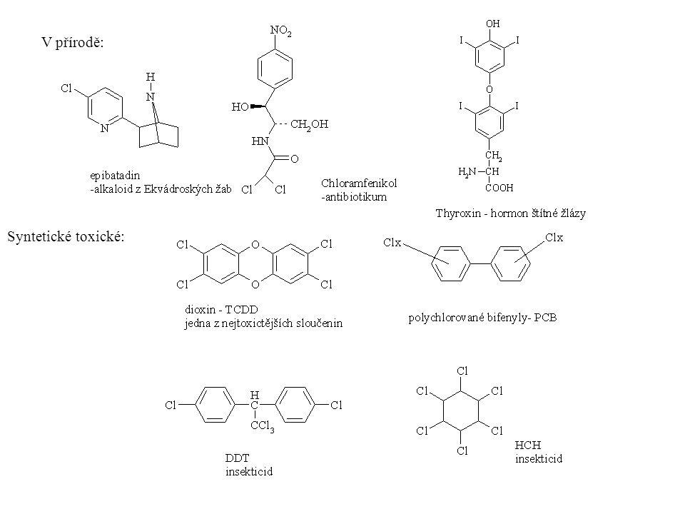 V přírodě: Syntetické toxické: