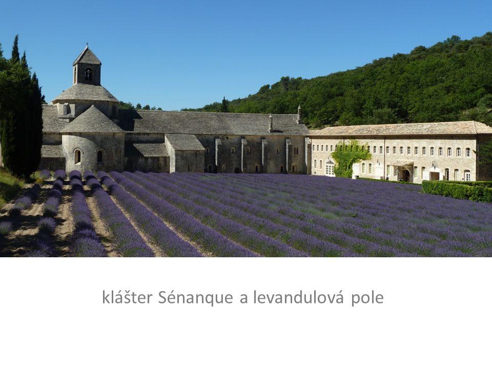 klášter Sénanque a levandulová pole