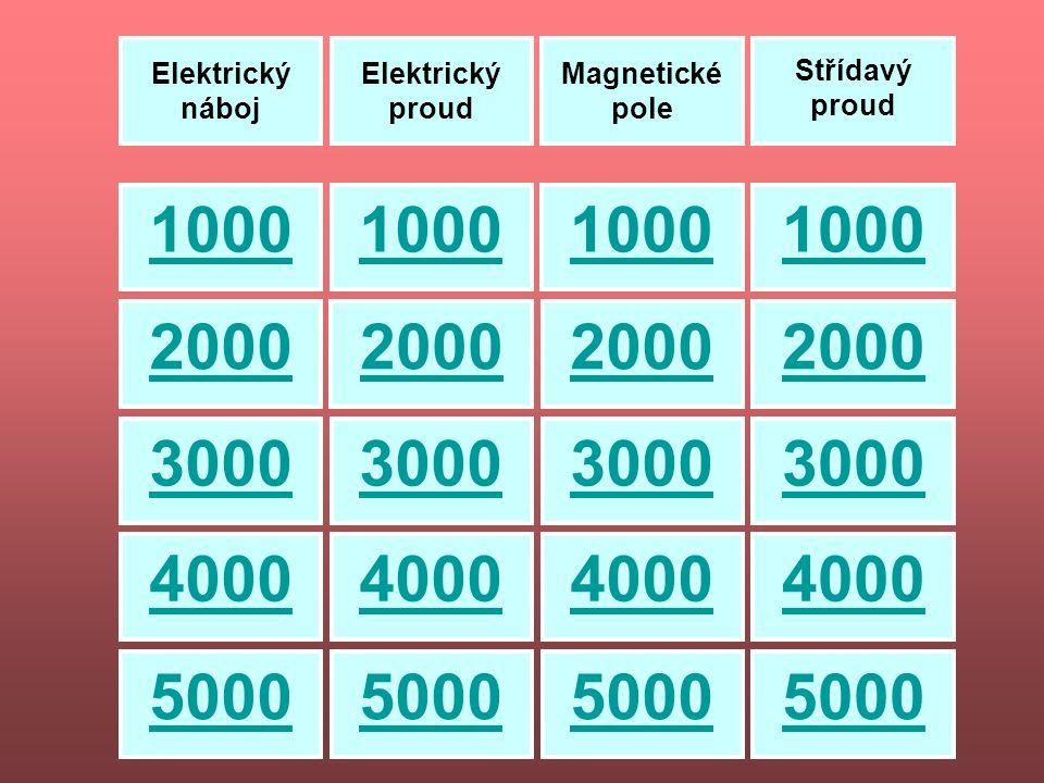 100 200 3000 100 100 300 200 300 300 200 100 200 500 500 500 500 400 400 400 400 Elektrický náboj Elektrický proud Magnetické pole Střídavý proud