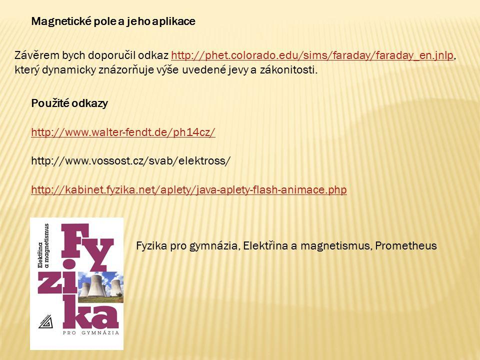Použité odkazy http://www.walter-fendt.de/ph14cz/ http://www.vossost.cz/svab/elektross/ http://kabinet.fyzika.net/aplety/java-aplety-flash-animace.php