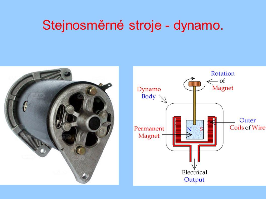 Stejnosměrné stroje - dynamo.