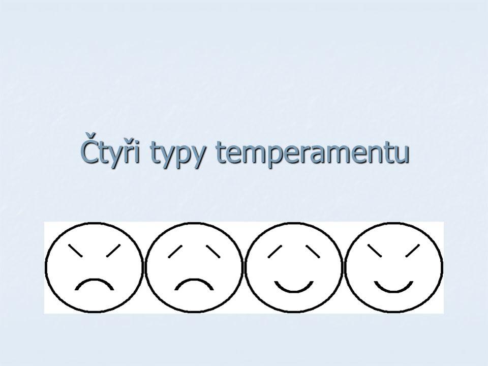 Čtyři typy temperamentu