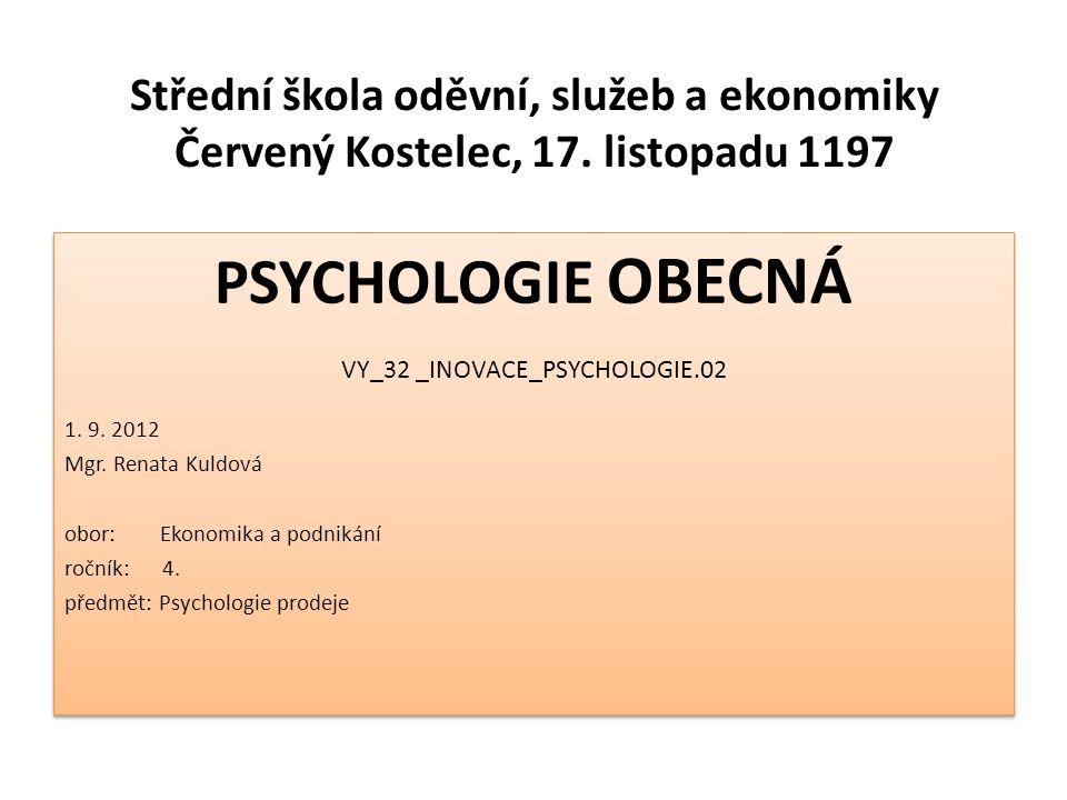 Střední škola oděvní, služeb a ekonomiky Červený Kostelec, 17.