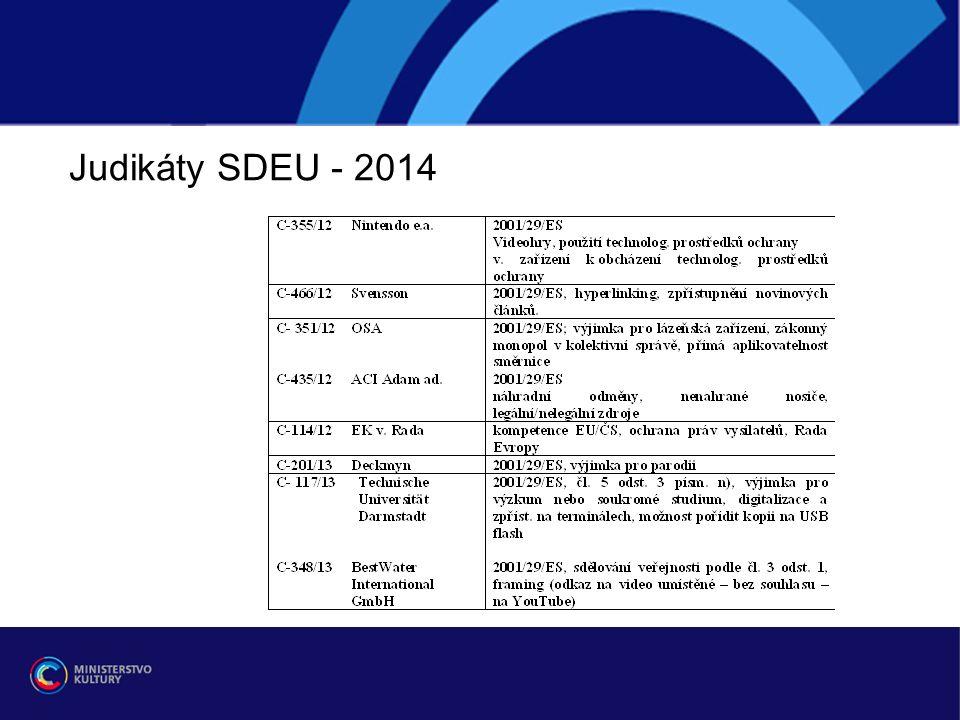 Judikáty SDEU - 2014