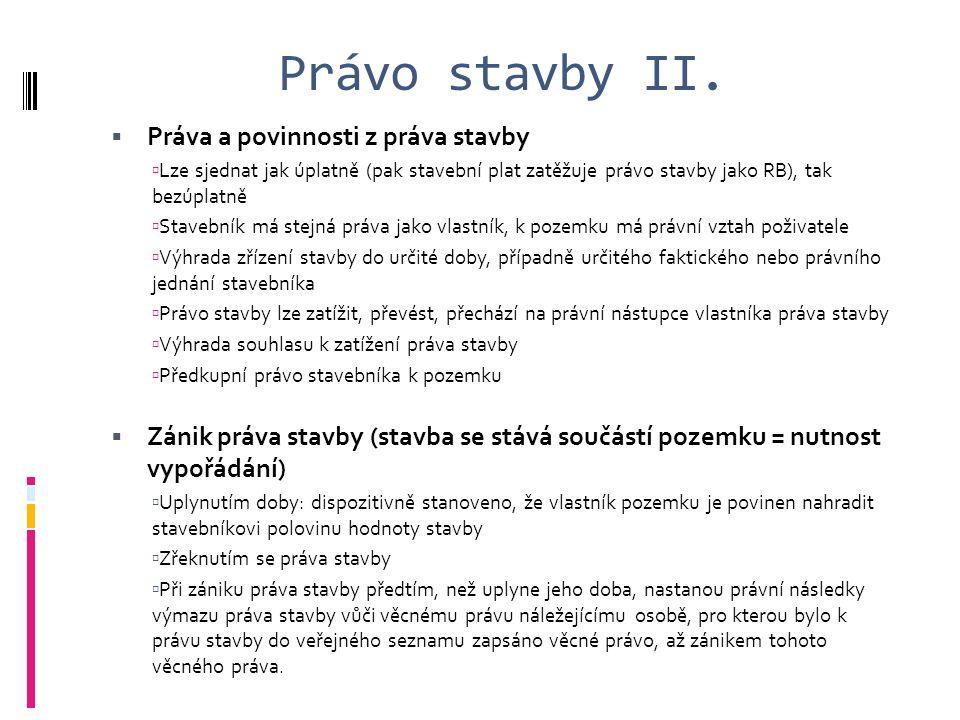 Právo stavby II.