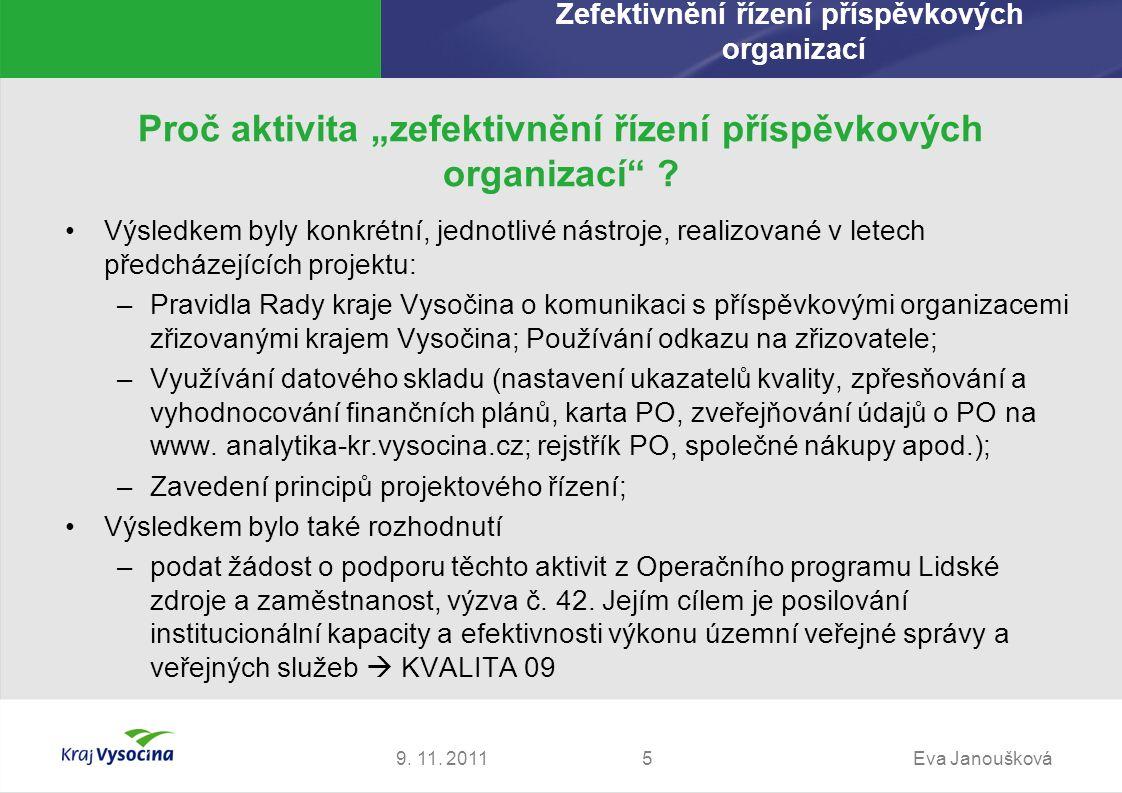 Děkuji za pozornost Eva Janoušková Ředitelka Sekce ekonomiky a podpory Krajský úřad Kraje Vysočina janouskova.e@kr-vysocina.cz 9.