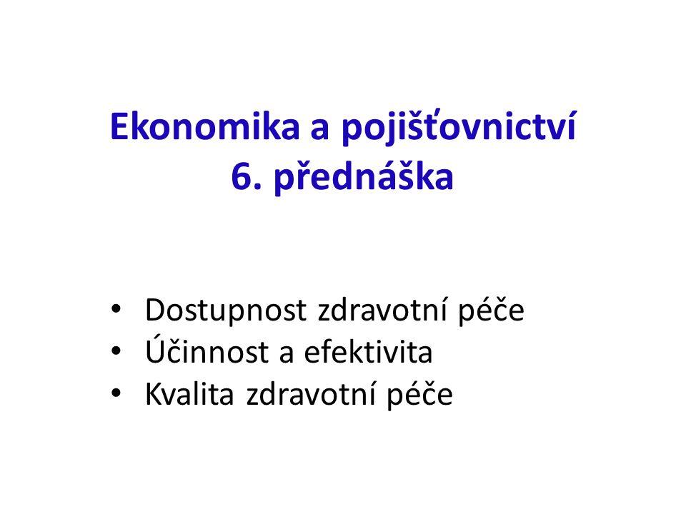 Ekonomika a pojišťovnictví 6.
