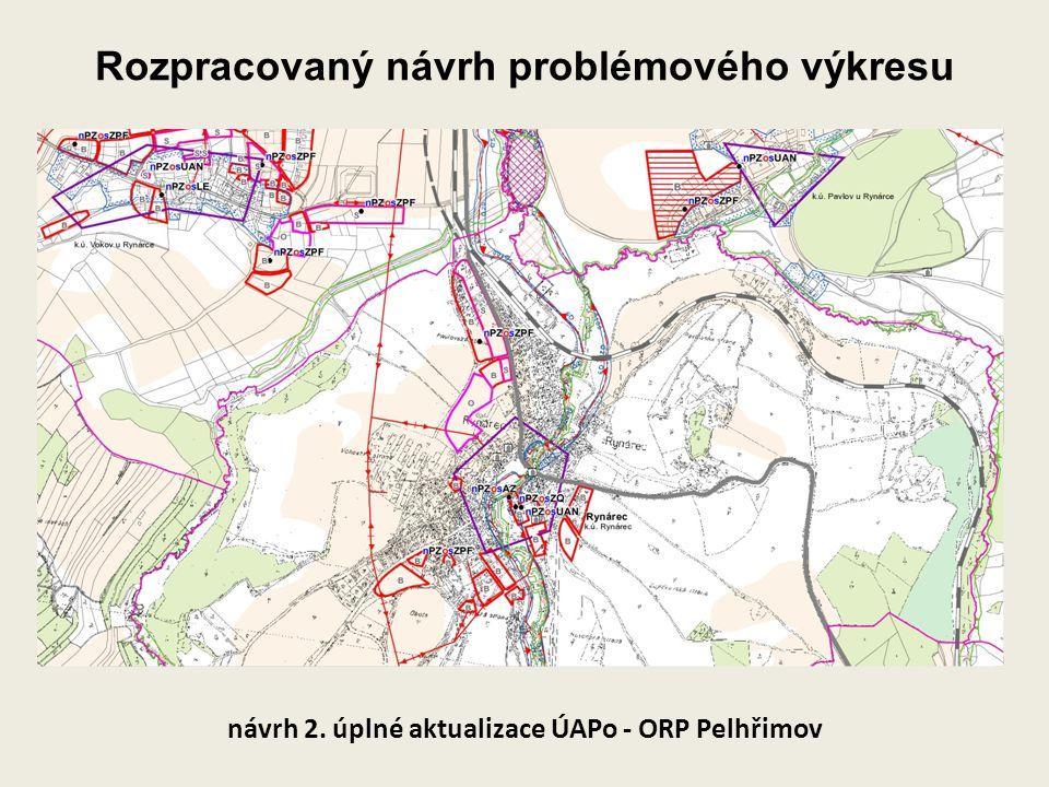 Rozpracovaný návrh problémového výkresu návrh 2. úplné aktualizace ÚAPo - ORP Pelhřimov